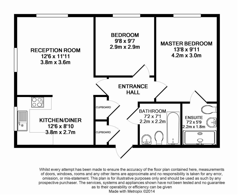 Floorplan for The Alders, Billingshurst